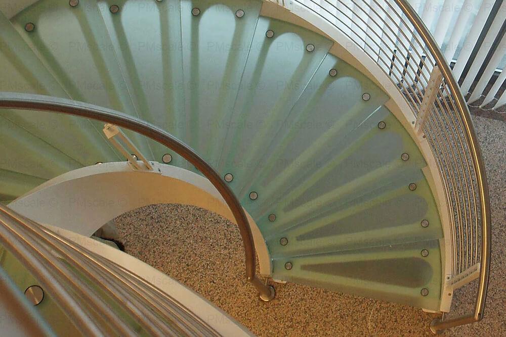 scalini vetro scale elicoidale